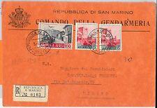 47760 - SAN MARINO - Storia Postale: BUSTA  Raccomandata dal COMANDO GENDARMERIA