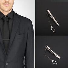 Mode Herren Einfach Herren Krawattennadel Klammer Silber Krawattenspange Metall