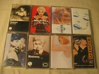 LOT OF 8 MADONNA CASSETTES - S/T / YOU CAN DANCE / TRUE BLUE / LIKE A VIRGIN