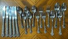 Stanley Roberts Rogers DELIGHT Stainless Flatware Forks Knives Spoons Lot of 18