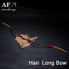 AF Archery Han Long Bow Traditional Handmade Fiberglass Bow Recurve bow 20-50lbs