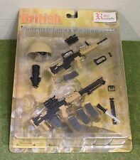 REALISTIC ARMOUR 1/6 SCALE CARDED BRITISH MODERN INFANTRY WEAPONS SET 1 TAN