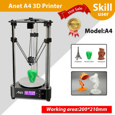 Anet A4 3D Imprimante USB Double extrudeuse DIY Delta LCD+8GB Sd Card+PLA Filame