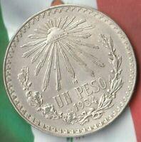1934 Mexico 1 Peso- 72% Silver- Stunner~ Silver Beauty~
