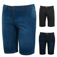 Shelikes Mens Boys Stretch Jeans Knee Length Comfort Summer Denim Shorts