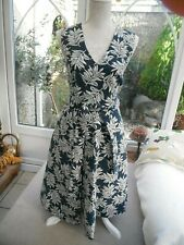 Per Una stunning lined Teal Rockerbilly 50's style dress with belt 8 cost £90