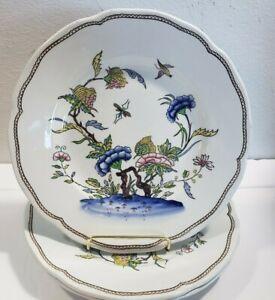 "Set Of 3 Sarreguemines Rouen 8 1/2"" Salads Plates 1872"