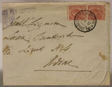POSTA MILITARE 18^ DIVISIONE 7.4.1917 BUSTA AFFRANCATA TIMBRO DI REPARTO #XP265L