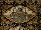 """Muslim Prayer Rug Hand Knotted Silk-Wool from personal collection 4' 9"""" X 3' 4"""""""