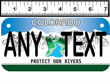 PERSONALIZED ALUM MOTORCYCLE STATE LICENSE PLATE-COLORADO PROTECT OUR RIVERS