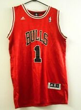 Adidas Bulls #1 Rose NBA Size L Red and White Sleeveless Crew Neck Men's Jersey