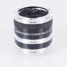 = Soligor Automatic Extension Tube Set to Fit Rollei Flex 8mm 16mm 32mm