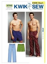 Kwik Sew Sewing Pattern 3793 Mens Nightwear Sleep Pants Shorts Size S-XXL