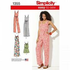 Simplicity Fabric Sewing Pattern 1355 Maxi Dress & Long or Short Jumpsuit.