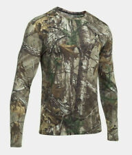 Under Armour Threadborne Hunting Forest Camo Long Sleeve Shirt Sz M