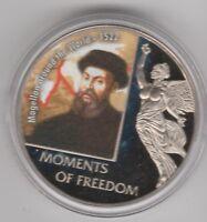 Magellan around the World on 2006 Liberia 10 dollars UNC - Moments of Freedom