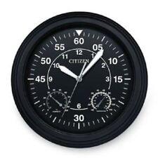CITIZEN CC2016 Outdoor Water-Resistant Black Circular Clock