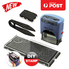 Personalised Self Inking Rubber Stamps Kit Custom Business Name Address Suit DIY