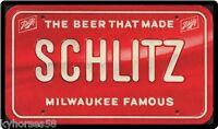Schlitz Beer License Plate Refrigerator Magnet