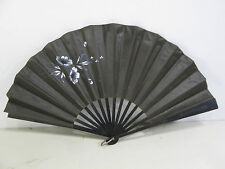 Antique Victorian Hand Painted Mourning Fan