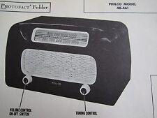 PHILCO 48-461 RADIO PHOTOFACT