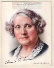 Annie S. Swan Scottish Journalist Author Novelist 1930s Ad Trade Card
