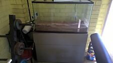 3ft Fish Tank Aquarium with Gravel and Cabinet