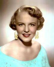 """PEGGY LEE JAZZ SINGER SONGWRITER ACTRESS 1950 8x10"""" HAND COLOR TINTED PHOTOGRAPH"""