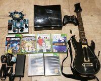 Microsoft Xbox 360 250GB Console With Guitar Hero Live Lego Dimensions Halo