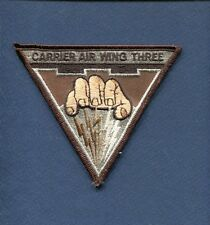 CVW-3 CARRIER AIR WING THREE US Navy Ship Squadron Cruise Jacket Patch