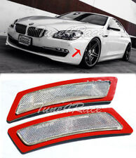 For 12-15 BMW 6-Series F12 F13 CRYSTAL CLEAR Side Marker Bumper Reflector Lights