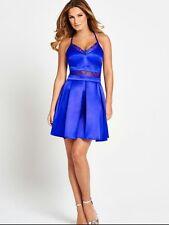 Cobalt Blue satin lace dress. Christmas Stocking Filler/Party Sz 10. £79. Gorge!
