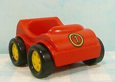 Lego Duplo figuren figures figuur Figuur raceauto Auto car voiture no. 1 red