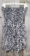 Countess Collection Small  Ruffled Tube top Dress Skirt Leopard Print Pull