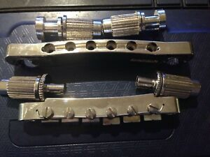 Tune-O-Matic Chrome Bridge/Stopbar with Post Mount Inserts Complete