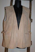 Vintage~KONUS~Slovenia~BEIGE~Leather SUEDE Vest~SIDE Buckles~POCKETS~Large?