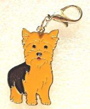Yorkshire Terrier Yorkie Dog Pup Bag Purse Charm Dangle Zipper Pull Jewelry