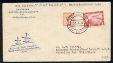 GERMANY, 1932 Netherlands Zeppelin Flight w/On Board cancel tying 1mk Zepp stamp