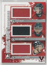 2011-12 IN THE GAME HEROES & PROSPECTS ELLIS/SUBBAN/MATTHIAS TRIPLE JERSEY 1/1!!