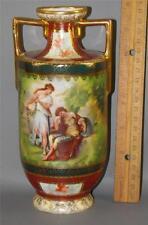 Royal Vienna Austria Beehive Mark Hand Painted  Figural Signed  Kauffman Vase