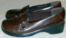 Clarks Ladies Shoes Slip On Loafer Size 8M VGC Pre Owned Brown Leather Upper