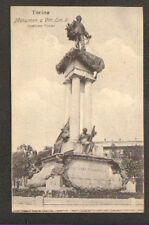 TORINO (ITALIE) MONUMENT VITT. EMMANUEL II ,scultore COSTA , trés gros plan 1909