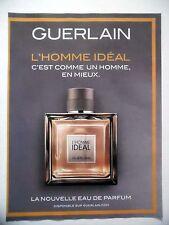 PUBLICITE-ADVERTISING :  GUERLAIN L'Homme Idéal  2016 Parfum