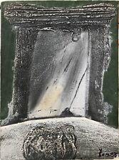 BOCIAN BOHUMÍR STROHALM PEINTURE ORIGINALE HST ŒUVRE SURRÉALISTE 1976 TCHÈQUE