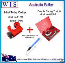 10 Pcs Brake & Air Line Double Flaring Tool Kit Set w Tube Cutter 3-16mm & Gift