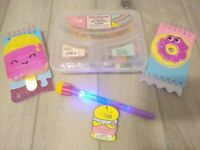 New 25 Erasers Fast Food Burger Fries Sweet Donuts Popsicle Notepad Light up Pen
