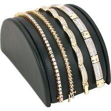 "Black Faux Leather Bracelet Half Moon Display Ramp 5"""
