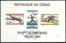 Kongo - Olympische Sommerspiele Tokio Block 5 postfrisch 1964 Mi. 175-177