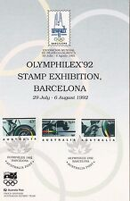 Stamps Australia 1992 Barcelona Olympic Games set 3 on commemorative panel