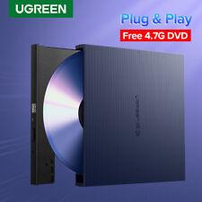 Ugreen External CD DVD Drive Portable Slim Rom Rewriter Burner Writer for Mac OS